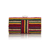 Aftershock Pallavie Multi Coloured Beaded Clutch