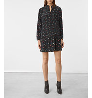 AllSaints Lin Rose Silk Dress