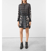 AllSaints Sanko Prairie Silk Dress