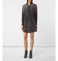 AllSaints Sanko Sinai Silk Dress