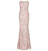 Amara Sequin Maxi Dress with Corset Style