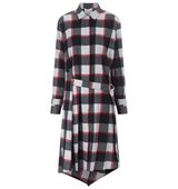 31 Phillip Lim 31 Phillip Lim Ruby Wool Checked Shirt Dress