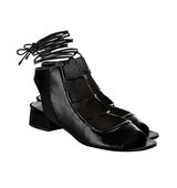 31 Phillip Lim Black Leather Lace Up Sandals