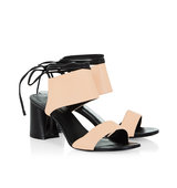 31 Phillip Lim Nude Leather Ankle Tie Drum Sandals