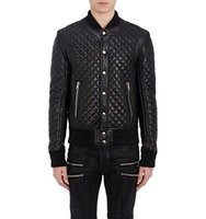 Balmain Mens Quilted Baseball Jacket