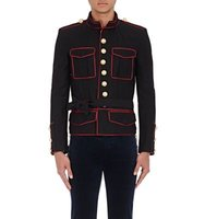 Balmain Mens Sargent Pepper Piped Cotton Twill Jacket