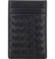 Bottega Veneta Mens Intrecciato Money Clip Card Case