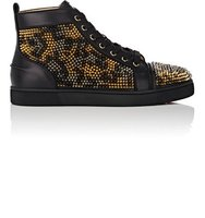 Christian Louboutin Mens Louis Spikes Leo Leather Sneakers