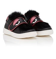 Fendi Monster Eyes Leather Sneakers