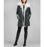 Belstaff Thwaite Parka With Fur Military Green