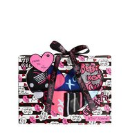 Betsey Johnson 7 Pack Dots And Bows Crew Sock Gift Box Multi
