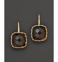14K White Gold and Smoky Quartz Earrings
