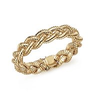 14K Yellow Gold Braided Tubogas Bracelet