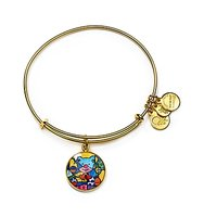 Alex and Ani Art Infusion Romero Britto Friendship Bear Expandable Wire Bangle