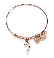 Alex and Ani Candy Cane Expandable Wire Bangle Charity by Design Collection