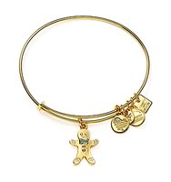 Alex and Ani Gingerbread Man Expandable Wire Bangle Charity by Design Collection
