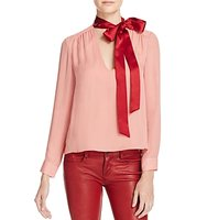 Alice Olivia Silk Tie Neck Top 100 Bloomingdales Exclusive