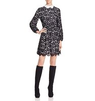 Alice Olivia Terisa Collared Lace Dress