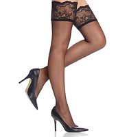 Donna Karan Hosiery Signature Sheer Satin Thigh Highs