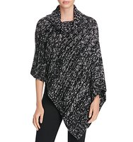 Eileen Fisher Asymmetric Marled Knit Poncho 100 Bloomingdales Exclusive