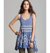 Free People Slip Dress Voile Trapeze