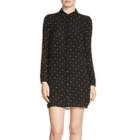 Maje Rione Embroidered Star Shirt Dress