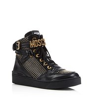 Moschino Studded Logo High Top Sneakers
