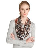 Fiore by La Fiorentina brown Abstract Gumdrop Print Oblong Scarf