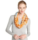 Fiore by La Fiorentina orange Abstract Gumdrop Print Oblong Scarf