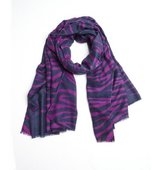 MIR grape cashmere knit Tiger scarf