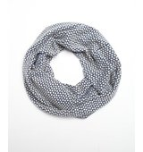 Wyatt blue and white knit honeycomb infinity scarf