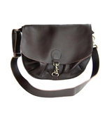 Atelierbits Messenger Bag With Clasp Closure Sienna Brown