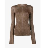 Christopher Kane Lurex Knitted Long Sleeve Top