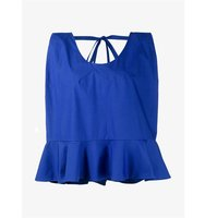Delpozo Sleeveless Cotton Top With Bow Detail