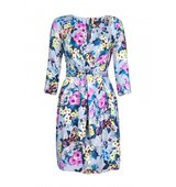 Closet Floral Print Tie Front Dress