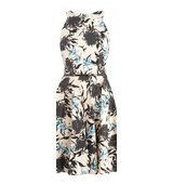 Closet Floral Split Neck Dress