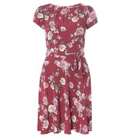 Dorothy Perkins Billie Blossom Petite Pink Floral Tea Dress
