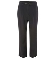 Dorothy Perkins Black Belted Wide Leg Trousers