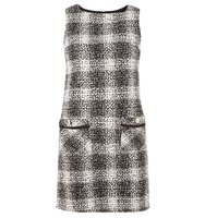 Dorothy Perkins Black and White Tweed Shift Dress