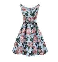 Dorothy Perkins Chi Chi London Floral Print Bardot Midi Dress
