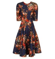 Dorothy Perkins Chi Chi London Floral Print Midi Dress