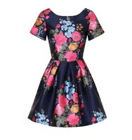 Dorothy Perkins Chi Chi London petite Blue Floral Mini Dress