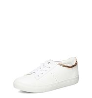 Dorothy Perkins Rose Gold Cady Lace Up Trainers