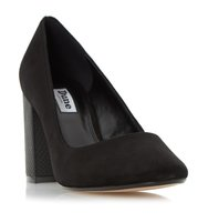 Acapela Round Toe Block Heel Court Shoe