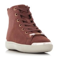 Brelai Metallic Hardware Detail High Top Trainer