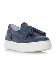 Ebby Brogue And Tassel Detail Leather Trainer