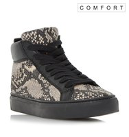 Eddiva Comfort Reptile Print High Top Trainer