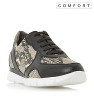 Eder Comfort Mixed Material Lace Up Trainer