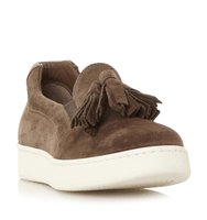 Elda Suede Tassel Detail Slip On Trainer