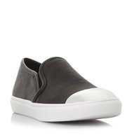 Eleete Sm Metallic Toecap Slip On Trainer